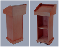 Wooden podium, wooden lecterns: the Hope Lectern with Mahogany Finish.