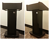 Wooden  podiums, black lecterns: Black Slim Line Floor Lectern with Lacquer Finish.
