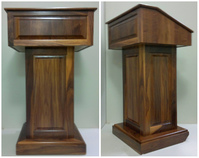 Wooden lectern, wooden podiums: executive Wood Counselor Evolution Lectern in Cherry Wood Finish.