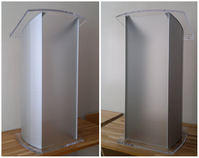 Clear pulpit, clear pulpits: Acrylic & Aluminum Podium with Frosted Front.
