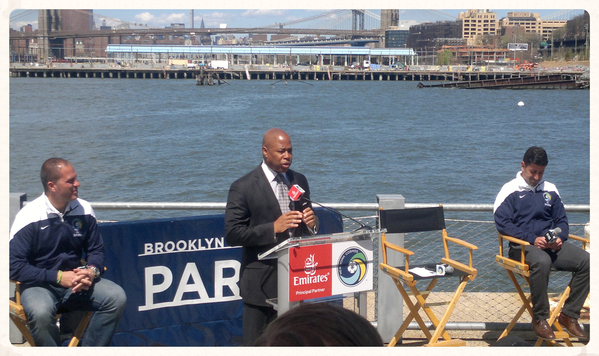 AV support at a press conference with ‪#‎BrooklynBoroughPresident‬ Eric Adams